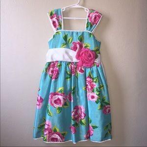 Stunning 7/8 Floral Easter spring summer dress